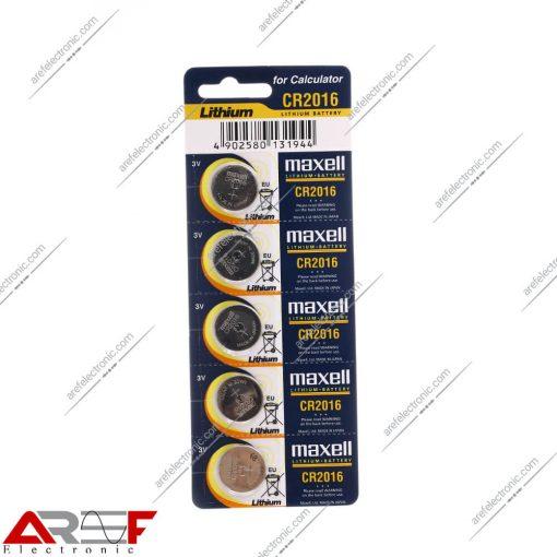 باتری سکه ای CR2016 مکسل