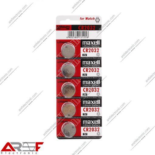باتری سکه ای CR2032 مکسل